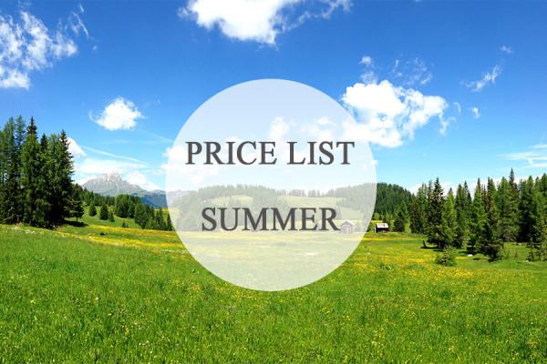 Price List Summer Button